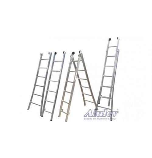 Escada Profissional Esticável Dupla Alulev